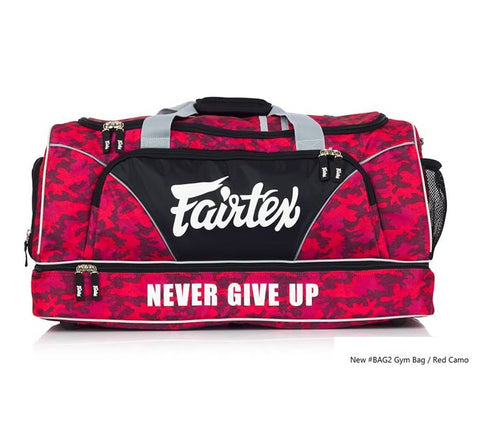 New Fairtex BAG2 Gym Bag in Camo Theme Red