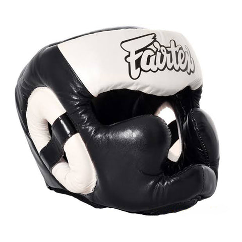 Fairtex Diagonal Vision Sparring Headguard HG13F Black & White
