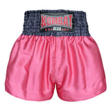 Kombat Gear Muay Thai Boxing shorts Star Pattern Pink Grey Waist