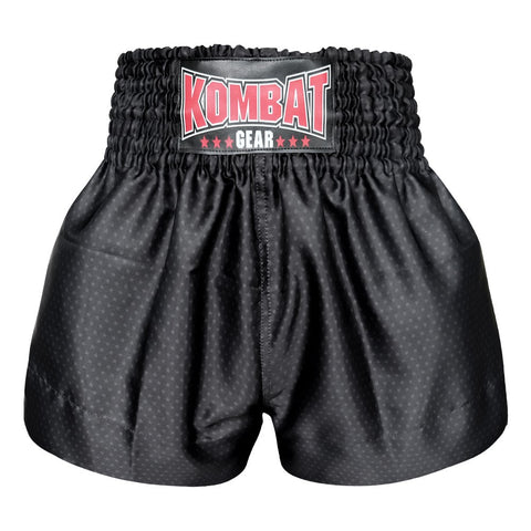 Kombat Gear Muay Thai Boxing shorts Star Pattern Black