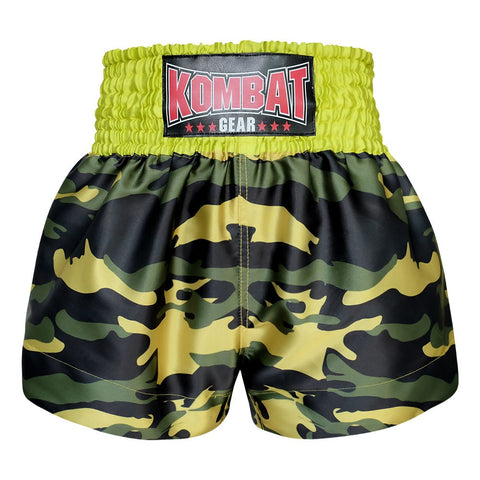 Kombat Gear Muay Thai Boxing shorts Green Army Camouflage KBT-MS001-11