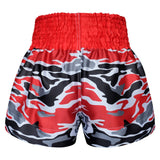 Kombat Gear Muay Thai Boxing shorts Red Army Camouflage