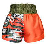 Kombat Gear Muay Thai Boxing shorts Oragne Start Pattern Army Camouflage