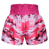 Kombat Gear Muay Thai Boxing shorts Pink Army Camouflage