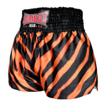 Kombat Gear Muay Thai Boxing shorts Orange Zebra Pattern