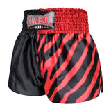 Kombat Gear Muay Thai Boxing shorts Two Tone Black Star Red Zebra Pattern