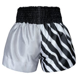 Kombat Gear Muay Thai Boxing shorts Two Tone White Star Zebra Pattern