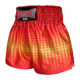 Kombat Gear Muay Thai Boxing shorts Yellow Star Gradient With Red