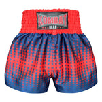 Kombat Gear Muay Thai Boxing shorts Red Star Gradient With Navy Blue