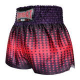 Kombat Gear Muay Thai Boxing shorts Red Star Gradient With Purple Black