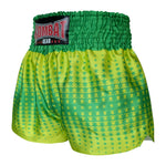 Kombat Gear Muay Thai Boxing shorts Green Star Gradient