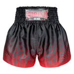 Kombat Gear Muay Thai Boxing shorts Red Gradient Polka Dot With Black