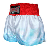 Kombat Gear Muay Thai Boxing shorts Blue Gradient Polka Dot With White