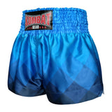 Kombat Gear Muay Thai Boxing shorts Blue Rhombus Gradient