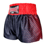 Kombat Gear Muay Thai Boxing shorts Red Hexagon With Black