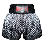 Kombat Gear Muay Thai Boxing shorts Black Triangles With Grey Gradient