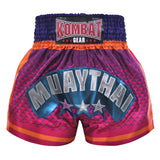 Kombat Muay Thai Boxing Geometry Shorts Purple Pink