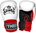 "TOP KING Boxing Gloves Super ""AIR"" Black White Red TKBGSA"