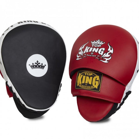 "TOP King Focus Mitts ""Super"" TKFMS Black-Red-White"