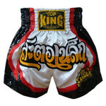 Top King Muay Thai Boxing Shorts White TKTBS-065