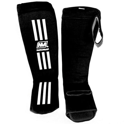 NATIONMAN Shin Guard Protection Black