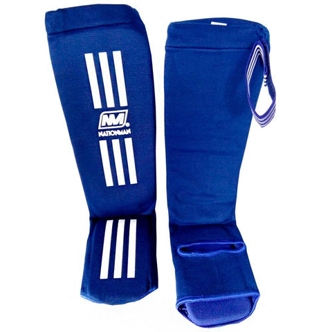 NATIONMAN Shin Guard Protection Blue
