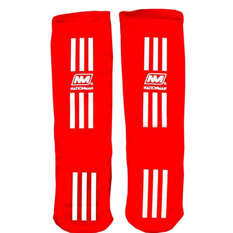 NATIONMAN Shin Guard Protection Red