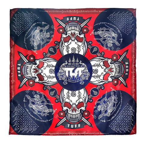 TUFF Bandana Headband Skulls with Ancient Yantra