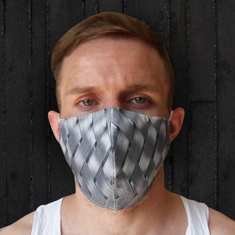 TUFF Fabric Mask Silver Weaving Pattern