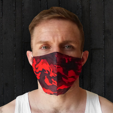 TUFF Fabric Mask Red Military Camouflage
