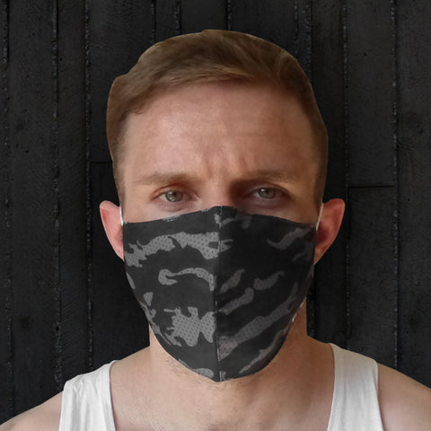 TUFF Fabric Mask Gray Military Camouflage