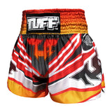 TUFF Muay Thai Boxing Shorts Red Cool Design