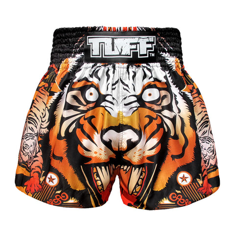 TUFF Muay Thai Boxing Shorts Orange Cruel Tiger TUF-MS613-ORG