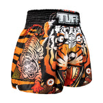 TUFF Muay Thai Boxing Shorts Orange Cruel Tiger TUF-MS613