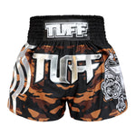 TUFF Muay Thai Boxing Shorts Brown Camo Army Camouflage