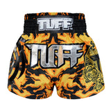 TUFF Muay Thai Boxing Shorts Yellow Camo Army Camouflage