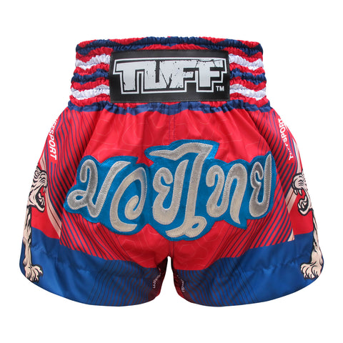 TUFF Muay Thai Boxing Shorts Pink With Double Ivory Tiger TUF-MS616