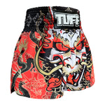 TUFF Muay Thai Boxing Shorts Dragon King in Red TUF-MS621