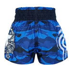 TUFF Muay Thai Boxing Shorts New Blue Military Camouflage TUF-MS640-BLU