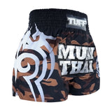 TUFF Muay Thai Boxing Shorts New Brown Military Camouflage TUF-MS640-BRN
