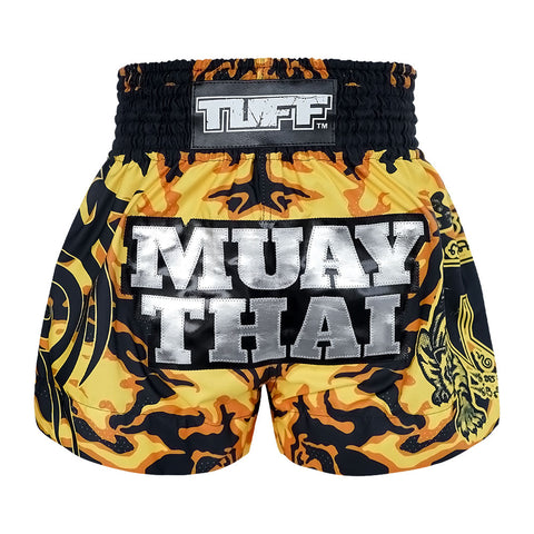 TUFF Muay Thai Boxing Shorts New Yellow Military Camouflage TUF-MS640-YLW