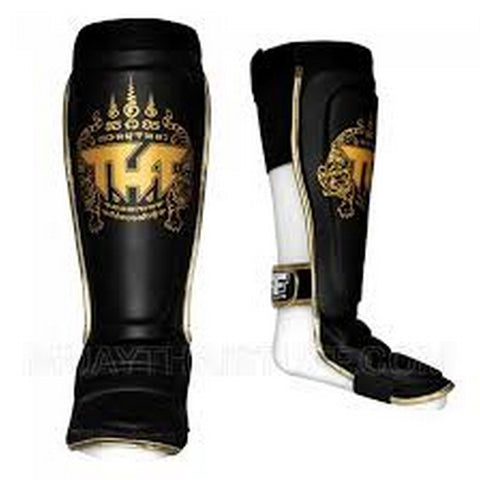 TUFF Muay Thai Shin Guards Hybrid Black