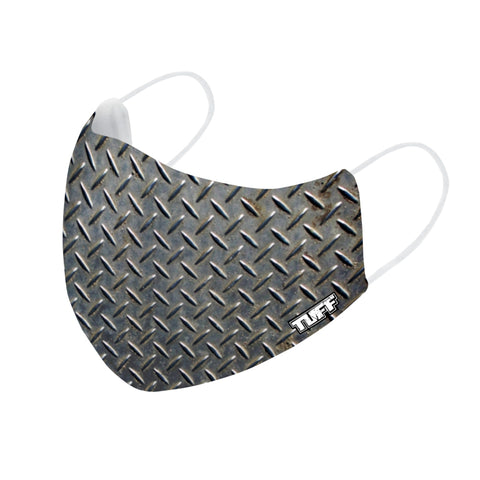 TUFF Fabric Mask Black Steel Weaving Pattern