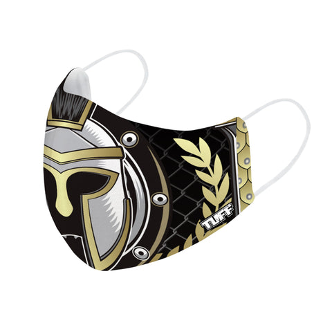 TUFF Fabric Mask Golden Gladiator in Black