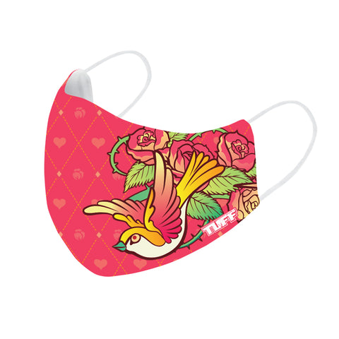 TUFF Fabric Mask Pink with Classic Rose