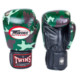 TWINS Special Fancy Boxing Gloves Leather Army Jungle Green FBGV-JG