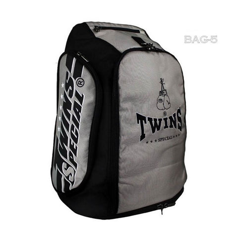 Twins Special Kick Boxing K1 Muay Thai MMA Gray Gym Backpack BAG5