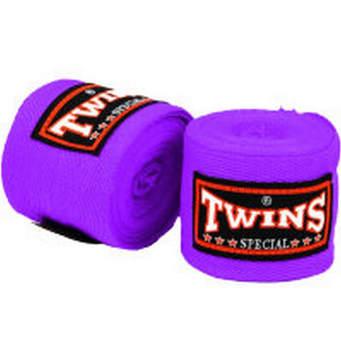 Twins Special Muay Thai Hand Wraps Solid Purple CH1
