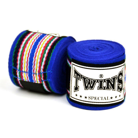 Twins Special Muay Thai Hand Wraps Blue CH2