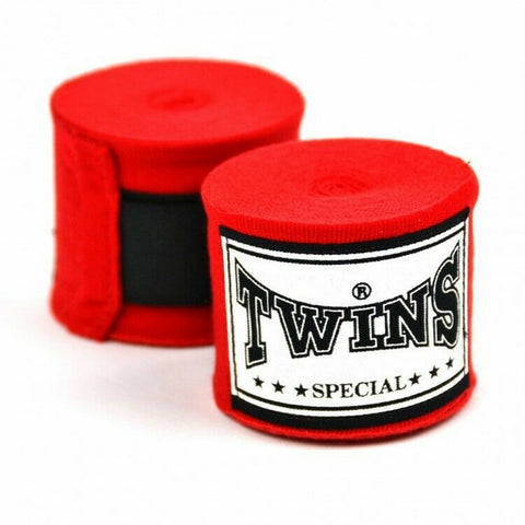 Twins Special Hand wraps Red Elastic Cotton CH5